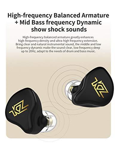 KZ T1 TWS Wireless Touch Control 5.0 Bluetooth Earphones Hybrid HiFi Bass Earbuds