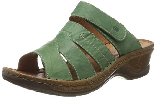 Josef Seibel Damen Pantoletten Catalonia 49,Weite G (Normal),Lady,Ladies,Women\'s,Woman,Slipper,Slides,Sandalen,Sommerschuhe,Grün (Tanne),42 EU / 8 UK
