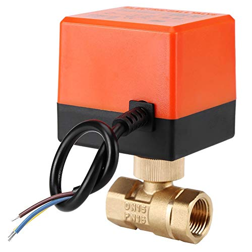 Yagoer Válvula de bola 1 unid AC 220V Brass eléctrica eléctrica Válvula...