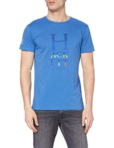 Hackett London Hackett Col Letters Camiseta, Azul Marino, L para Hombre