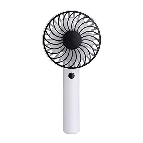 Portable Handheld Fan 3-Speed Mini USB oplaadbare ventilator met 1200mAh Powerbank batterij Stille Desktop Persoonlijke luchtkoelventilator