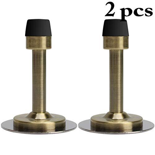 Justdolife Protecteur De Mur Anti-Collision d'acier Inoxydable De Butoir De La Porte 2PCS