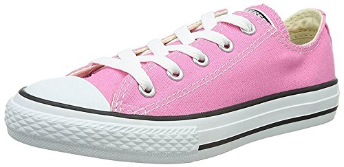 Converse All Star Low Top Kids/Youth Shoes Boys/Girls Sneakers (1.5 Kids, Low Pink/White)
