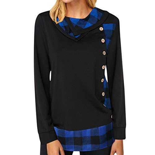 ZGRNPA Women's Oversized Long Sleeve Midi Dress Ladies Casual Baggy T-Shirt Tops with Pockets Jumper Dress Long Sleeve V-Neck Tunic Sweatshirt Tops Loose Long Jumper Pullover Causal T-Shirt Dress