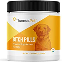 Thomas Pet Bitch Pills - Prenatal Supplement for Dogs - Supports Overall Health & Milk Production in Female Dogs - Vitamin Supplement That Supports Pregnancy & Nursing in Dogs - 12 Ounces, Powder