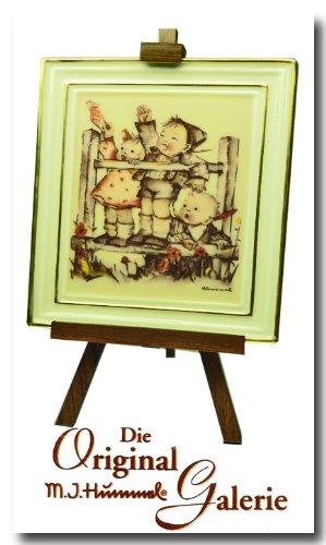The Original M. J. Hummel Gallery ** Aufwiedersehen * 350006 * mit Zertifikat, Handbemalt, Porzelan Bild mit Staffelei