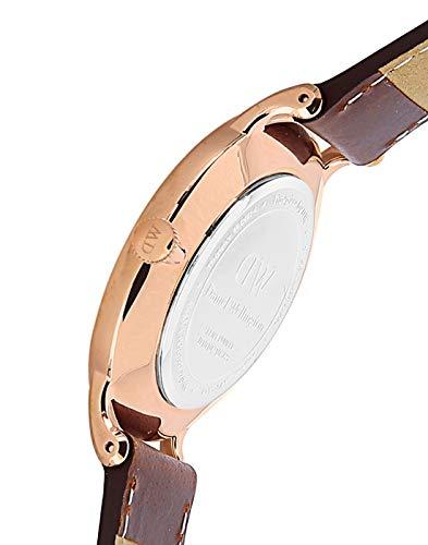 Daniel Wellington Femmes Analogique Quartz Montre avec Bracelet en Cuir DW00100091