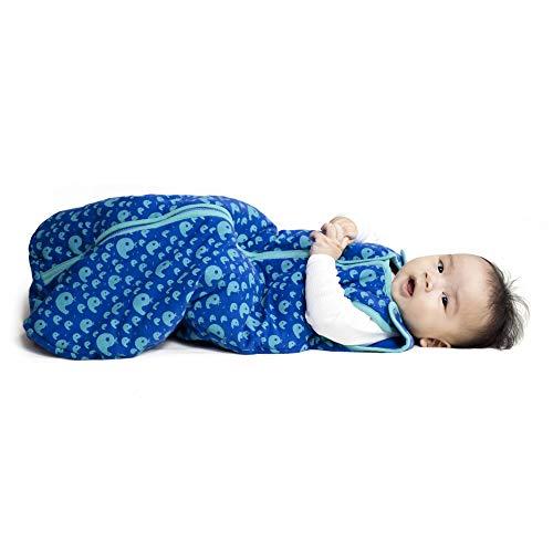 Camiseta Baby Deep Sleep Nest Saco de dormir para bebês, baleias brincalhões, pequena, 0-6 meses
