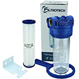Filter für Hauswasserwerk Gartenpumpe Hauswasserleitung 10' Wasserfilter Anschluss 1' m. Filtereinsatz