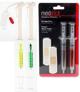 Krankenschwester Min Super Set (2Spritze Stifte, 2Knochen Stifte, 2Textmarker und 1Post it Note Pflaster