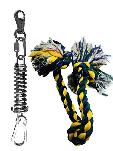 SoCal Bully HD Spring Pole Dog Rope Toys Muscle Builder a Big Spring Pole Kit, Strong Dog Rope Toy and a for Pitbull & Medium to Large Dogs Outdoor Hanging Exercise Rope Pull & Tug of War Toy