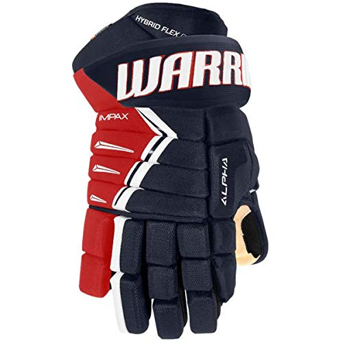Warrior Alpha DX Pro Handschuhe Senior, Größe:13 Zoll, Farbe:Navy/rot/Weiss