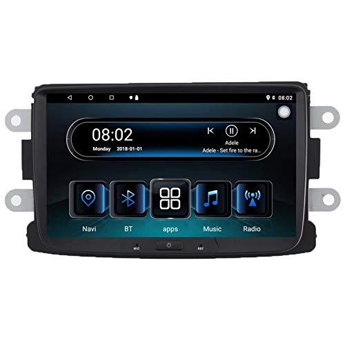WHL.HH Androide Auto Estéreo GPS Navegación Cabeza Unidad HD IPS Tocar Pantalla SWC Auto Radio Multimedia Jugador por Dacia, Apoyo WiFi DSP Carplay 4G