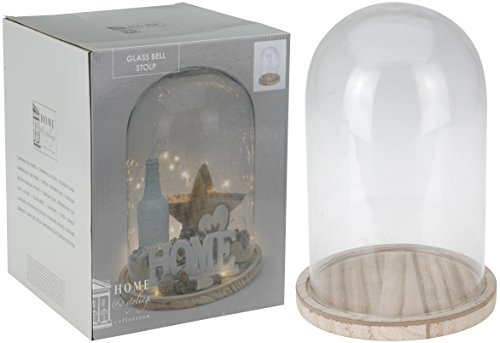 Cubierta de cristal Bell Jar con base 30cm