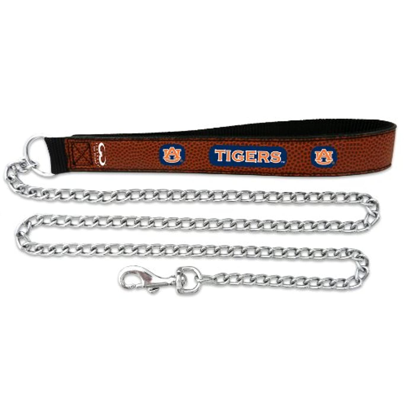 指レジ代数的Auburn Tigers Football Leather 3.5mm Chain Leash - L