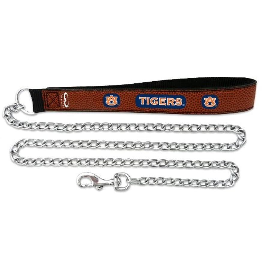 発行回転させるラベンダーAuburn Tigers Football Leather 3.5mm Chain Leash - L