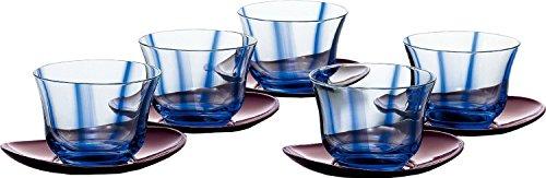 東洋佐々木ガラス 冷茶揃 水の舞 180ml ブルー 日本製 G407-T129N 5個入り