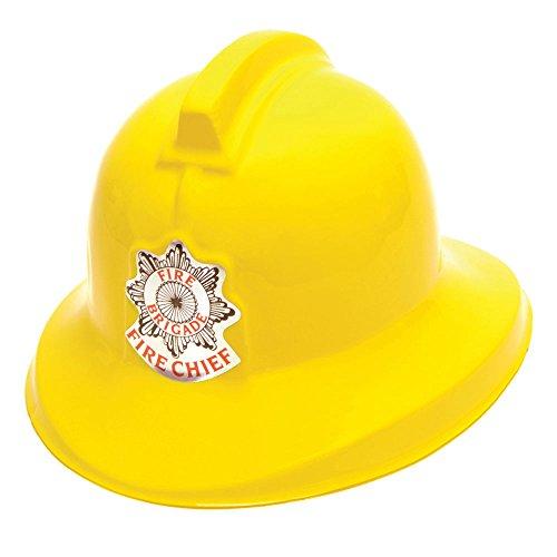 Bristol Novelty- Casque de pompier, Homme, BH079, Jaune, Taille unique