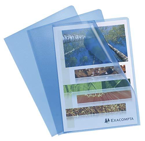 Exacompta 56112E - Bolsa de 10 dossiers, A4, color azul
