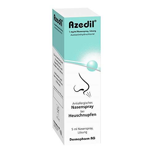 Azedil 1 mg/ml antiallergisches Nasenspray bei Heuschnupfen, 5 ml Lösung