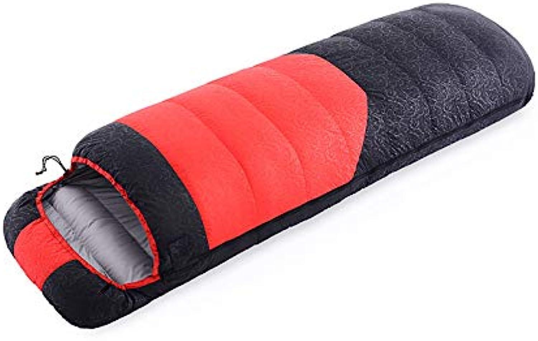 WILRND Home Daunenschlafsack für den Herbst und Winter für den Aueneinsatz - ultraleichter Warmer Entendaunenschlafsack 1500 g (Größe   A)