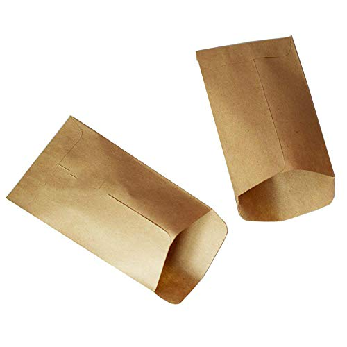 TOSISZ 6x10cm cookie bags 100pc Kraft Paper bag mini Envelope Gift Bags Candy Bags Snack Baking Package Supplies Gift Wrap glue box