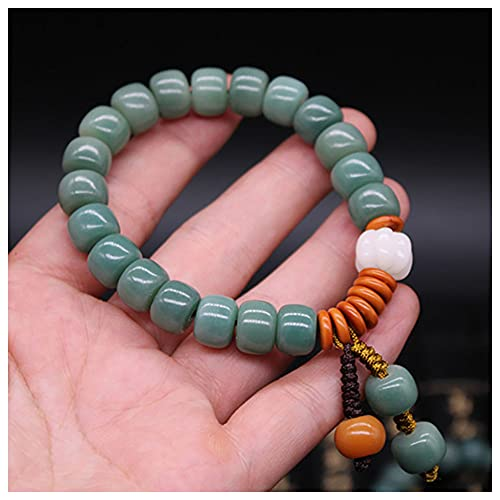 DONGYUCHUN Pulsera De Raíz Verde Natural De Bodhi, Pulsera De Oración De Meditación, Hombres Y Mujeres Collar De Muñeca Accesorios