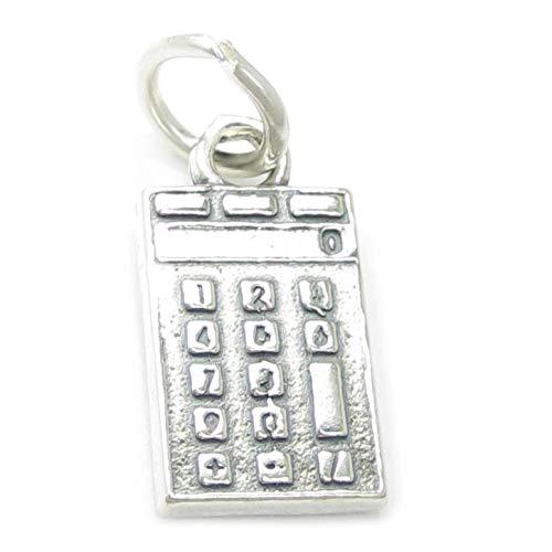 Taschenrechner, 925 Sterlingsilber 1 x Calculater charms Taschenrechner CF4218