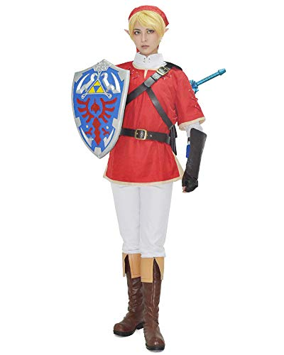 miccostumes Men's Link Cosplay Costume Red (Large, Red and White)