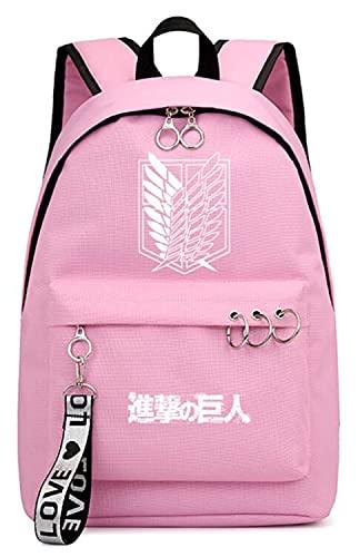 Gumstyle Anime Attack on Titan Shingeki no Kyojin Luminoso Mochila Laptop Backpack Estudiante