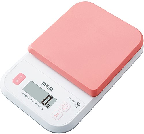 タニタ クッキングスケール キッチン はかり 料理 デジタル 1kg 1g単位 ピンク KJ-110S PK ごはんのカロリーがはかれる