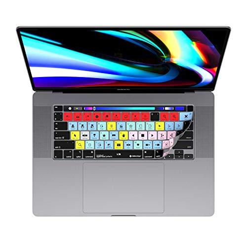 맥북 프로 FINAL CUT PRO X 키보드커버 매우 얇은 스킨에 맞는 13&16 인치 MAC 프로 노트북 컴퓨터 모델 2020+ 100 기능에 대한 바로 가기 키를 더 빨리 사진을 편집하여 편집자 열쇠