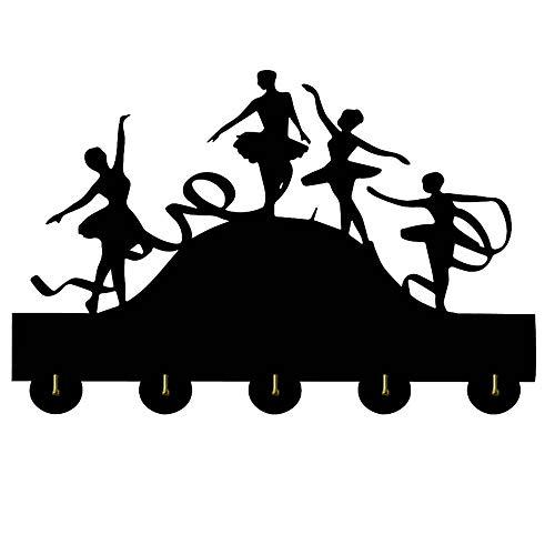 HOMERACK Perchero Pared Bailarín de Ballet Novedad Suspensión de Madera Ropa Sombrero Gancho de Llave/Perchero/Gancho de Pared Decoración del hogar Pegatinas de Pared Cocina Baño Gancho de