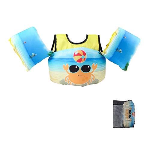 Elejolie Kid Swim Vest for Child Learn Swiming Training,Infant Safety Swim Aid for Toddler Boy&Girl 22-66lbs