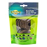 PetSafe Natural Rawhide Rings – Dog Toy Treat Ring Refills for Busy Buddy Dog Toys – Original Flavor – Medium, Size B – 16 Rings