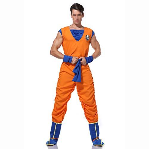 YZJYB Disfraz Cosplay De Son Goku De La Serie La Bola del Dragn Trajes De Fiesta De Anime para Hombre Halloween Naranja,XL