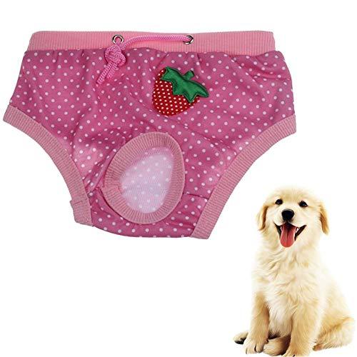 Hundewindeln FüR HüNdinnen Inkontinenz Hundewindel Hygienehosen für Hunde Windeln für Hunde Hund Windeln weiblich klein Windel Hundesaison Hose groß pink,s