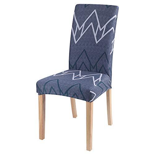 Qier Stuhlhussen Stretch Chair Schonbezug, Elastic Furniture Sitzdekoration, Dining Hotel Büro Bar Chair Protector Covers, Abstraktes Geometrisches Muster, Beige, 2Er-Set