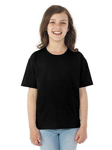 Fruit of the Loom Heavyweight Youth Short Sleeve T-Shirt - BLACK - small Black Youth Heavyweight T-shirt