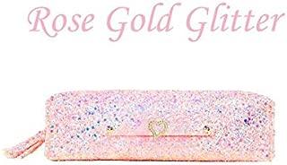 Pencil Case Makeup Pouch - Gold Glitter