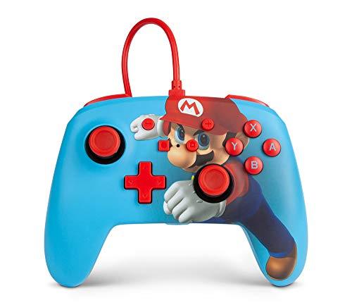 Verbesserter kabelgebundener PowerA-Controller für Nintendo Switch – Mario Punch, Gamepad, kabelgebundener Videospiel-Controller, Gaming-Controller