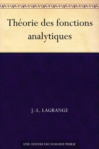 Couverture du livre Théorie des fonctions analytiques