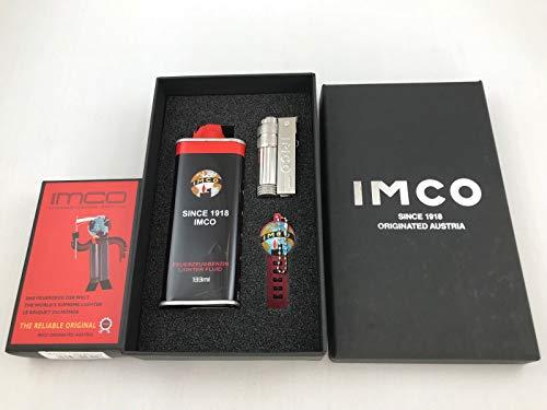 IMCO Super Triplex mit Logo Chrome Oil Nickel Feuerzeug Geschenk Set