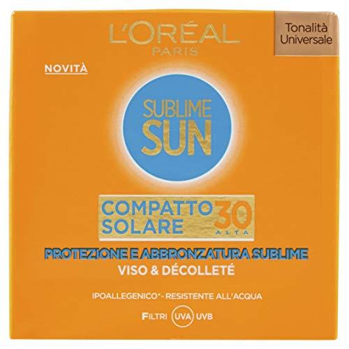L'Oréal Paris Sublime Sun Protect & Sublime Protezione Solare Compatto in Polvere Protettivo, IP 30