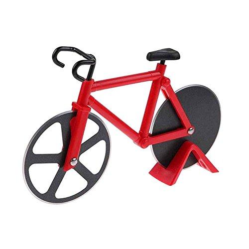 Rocita Pizzaschneider in Form eines Fahrrads, rostfreier Stahl und Kunststoff, Rot