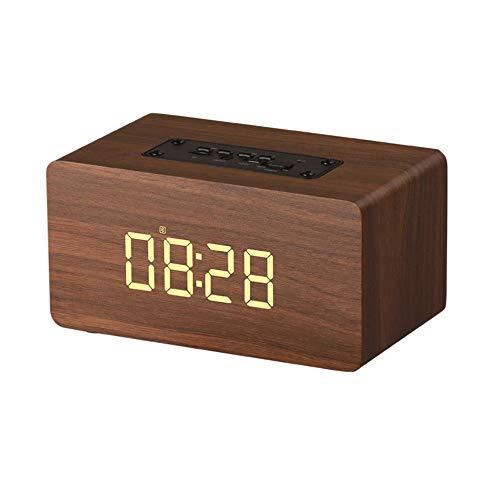 ERKEJI Altavoz Bluetooth Reloj Despertador Radio AUX/USB/TF-Tarjeta Bluetooth4.2 Regalos Inteligentes para reducción de Ruido