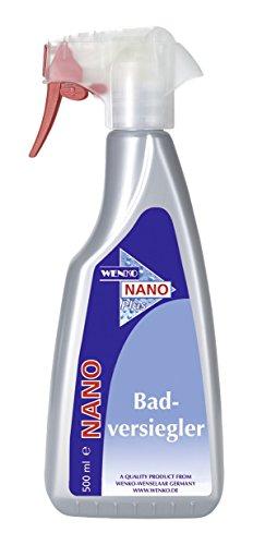 WENKO 76040500 Nano Badversiegler - mit Oberflächenschutz, Chemie, 10.5 x 23.5 x 4.8 cm, Silber