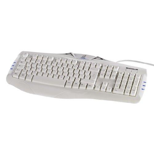 uRage Exodus Gaming Tastatur Keyboard, mit blauen LEDs beleuchtet, weiß