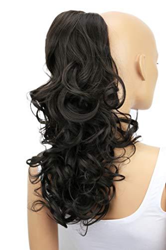 Haarverlängerung, Pferdeschwanz, voluminös, gewellt-lockig, hitzebeständig, 150g, 56cm