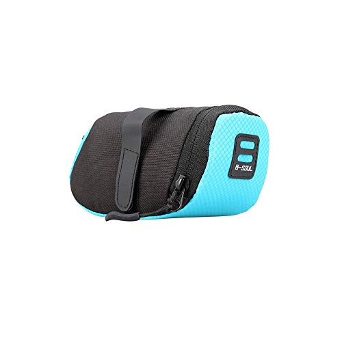 Bolsa Sillin Bicicleta 3 bolsa de nylon de color for bicicleta a prueba de agua de almacenamiento de una silla del asiento del bolso de ciclo de cola trasera de la bolsa de la silla de montar Accesori